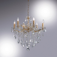 Luster Ideal Lux FLORIAN SP6 Oro